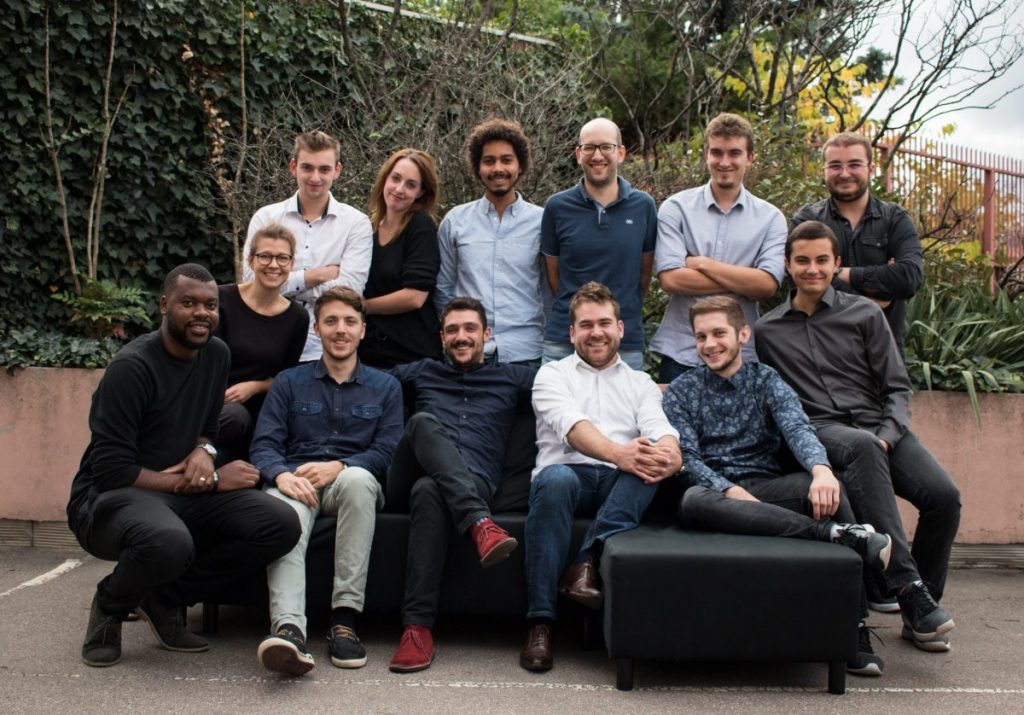 Brieuc Oger et son équipe de Hub-Grade, plateforme de location de bureaux entre professionnels