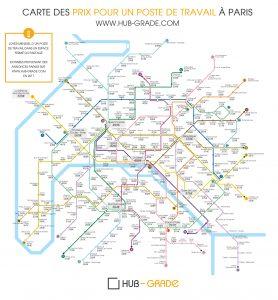 infographie loyers poste de travail paris stations de metro