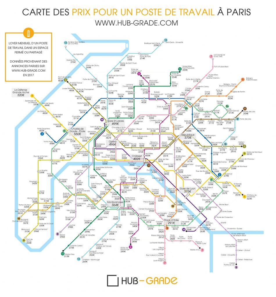 Infographie le prix des bureaux paris blog hub grade for Prix des bureaux