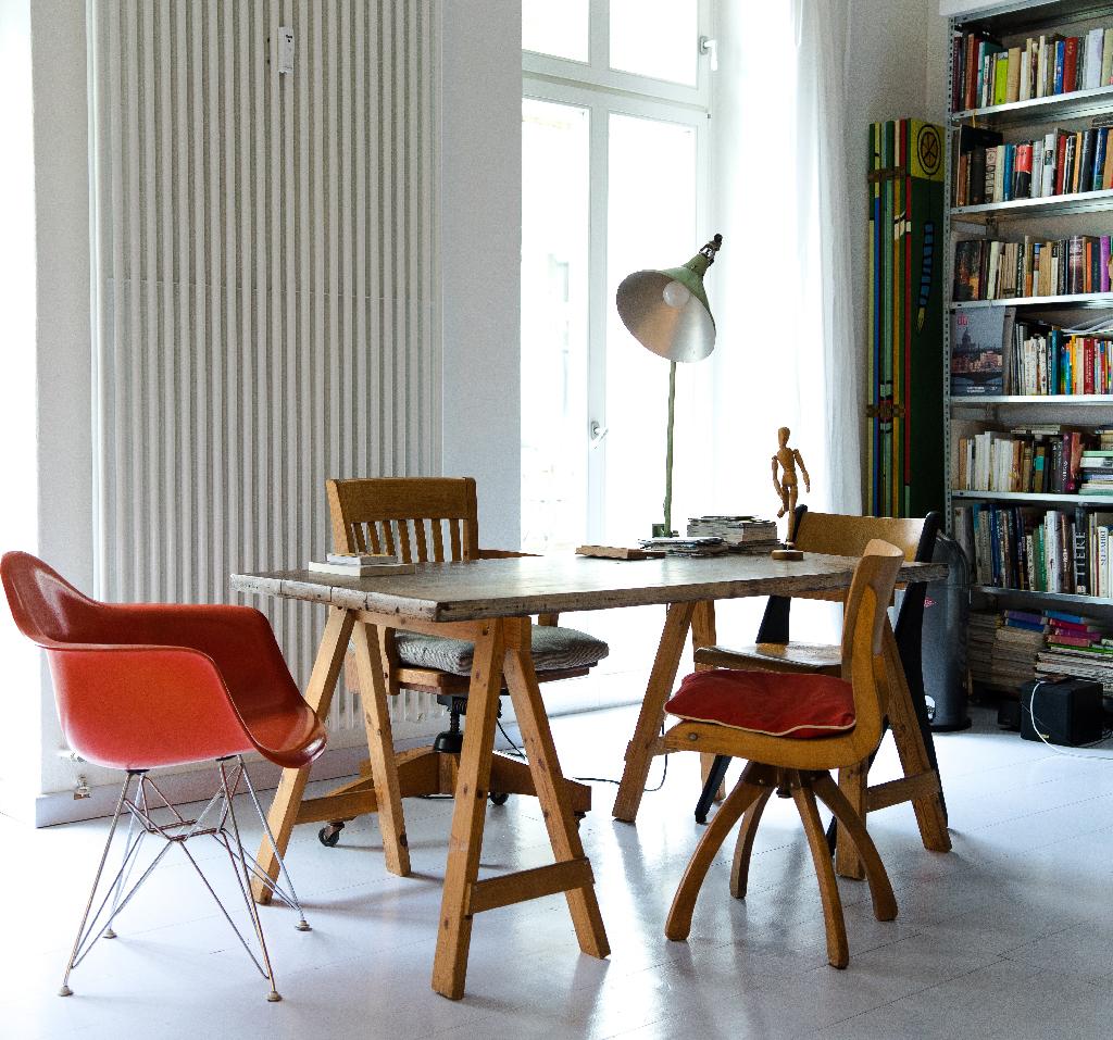 bois espace de bureau