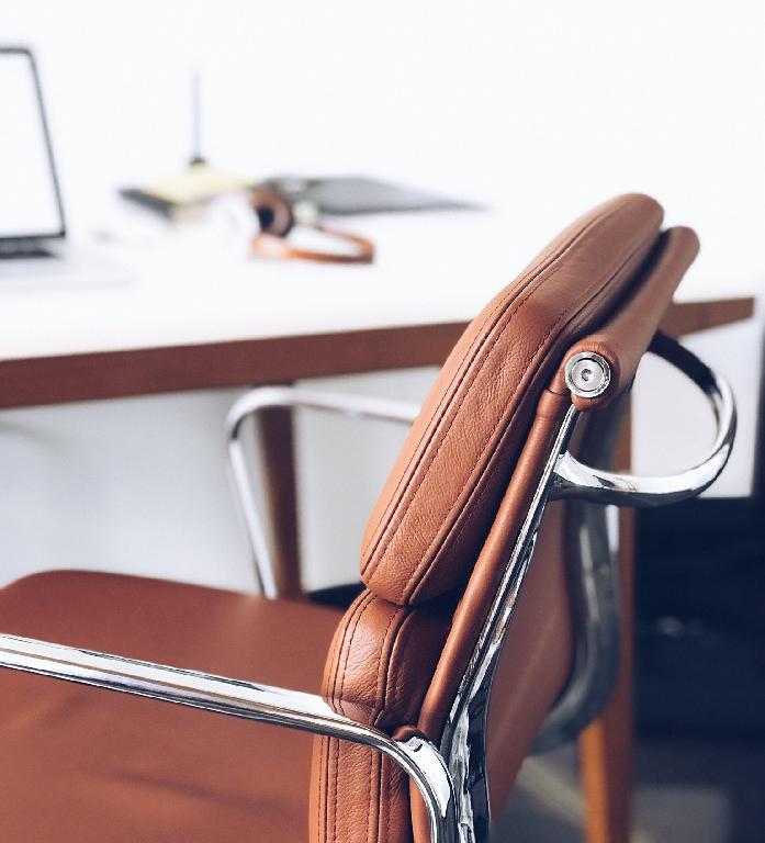 Le cuir dans un espace de travail