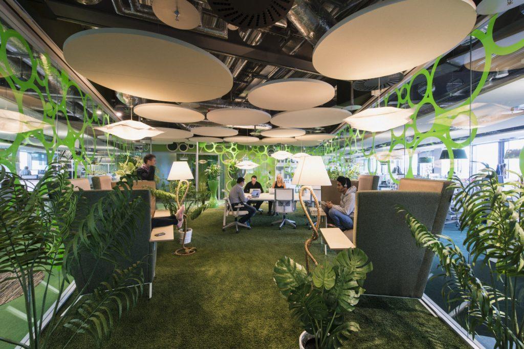 Les plantes au bureau - Le design biophilique, par Google à Dublin
