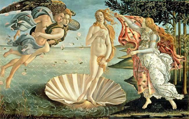 Les plantes au bureau - Botticelli et Vénus