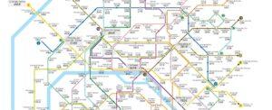 infographie des loyer pour un bureau, par station de metro parisien