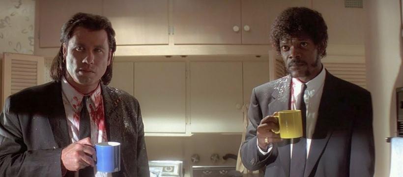 Pulp Fiction : boire du café pour un travail bien fait